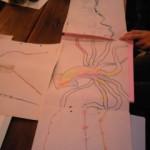 6/26(水) 細長いもの。 細長いお題やものを持ち寄り描きました。