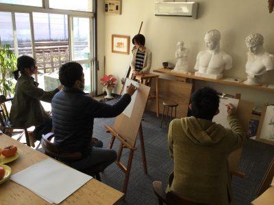 おえかき部「人物クロッキー」三重県四日市市