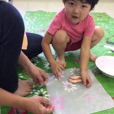 親子おえかき部2、3才の部 7月
