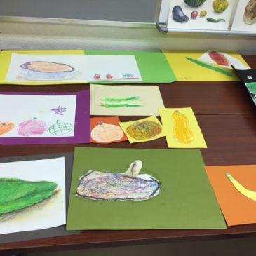 9月年中〜小学校低学年の親子の部「野菜スケッチ」
