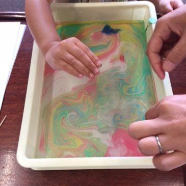 9月「マーブリング」(2-4才児の部)