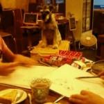 9/15(水) 犬。 お店の看板犬の「だうろ」を描きました。