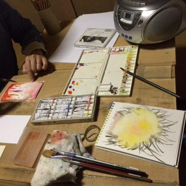 4月「音から絵を描く」(桑名)
