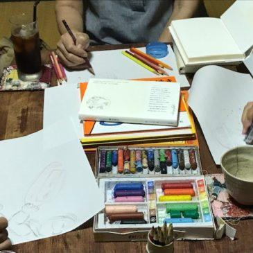 10月おえかき部桑名「文章から絵を描く」